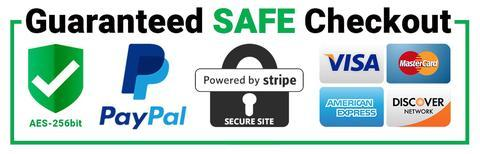 Guaranteed safe & secure checkout