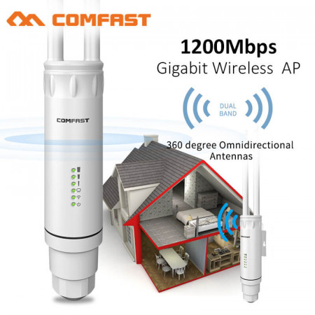 Comfast CF-EW74 1200Mbps Dual Band 5.8G High Power Wifi Outdoor AP / Repeater