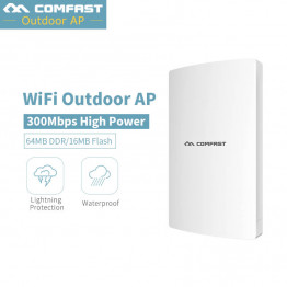 Outdoor Wireless wi-fi Range Extender 300Mbps Amplifier 2.4G Waterproof 27dBm 802.11 b/g/n Wifi Router/AP IP65 Lighting protect