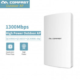 High Power 1300Mbps Outdoor Wifi Repeater Wireless WIFI Router/AP/Repeater CPE 5G Dual Band LAN WAN RJ45 Port 48V POE Power