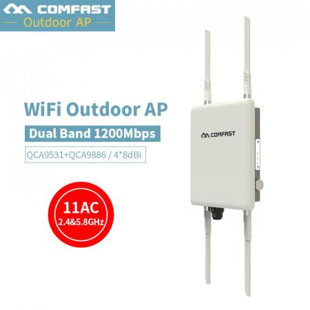 1200Mbps Dual Band 2.4G&5.8G Outdoor CPE AP Router WiFi Signal Hotspot Amplifier Repeater Long Range Wireless PoE Access Point