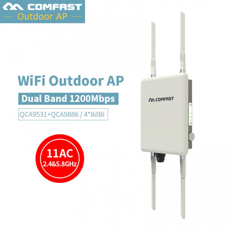 1200Mbps Dual Band 2 4G&5 8G Outdoor CPE AP Router WiFi Signal Hotspot  Amplifier Repeater Long Range Wireless PoE Access Point
