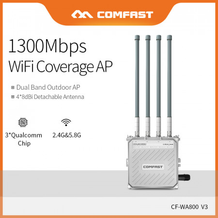 Comfast High Power 1300Mbps Dual Band 2.4G&5.8G Wireless Wifi AP Router Long Range Wifi Signal Hotspot Amplifier CF-WA800-V3