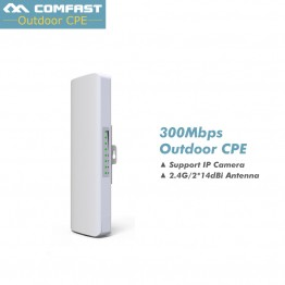COMFAST CF-E314N 300Mbps 2.4Ghz Outdoor Mini Wireless AP Bridge WIFI CPE Access Point Dual 2*14dBi WI-FI Antenna Nanostation
