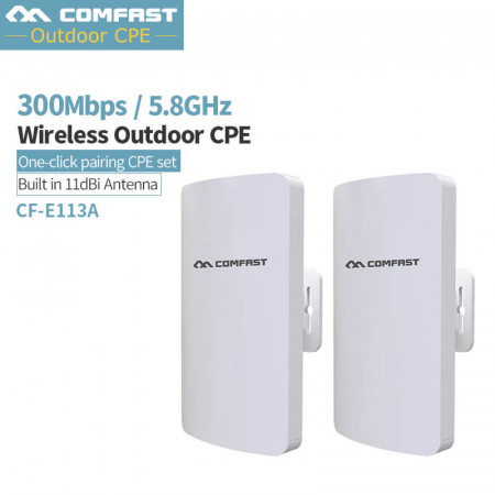 2Pcs Comfast CF-E113A Mini Wireless 11dBi high gain Antenna Extender Repeater 5G Outdoor CPE WiFi Bridge Access Point AP Router