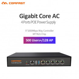New ~ Comfast CF-AC101 full Gigabit AC Authentication Gateway Routing MT7621 Core Gateway 4 port poe Wifi Project AC Router