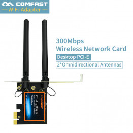 High Speed PCI-E PCI Express Expansion Card 300mbps 2* omnidirectional antenna for Desktops PC PCIE-16X 8X 4X 1X