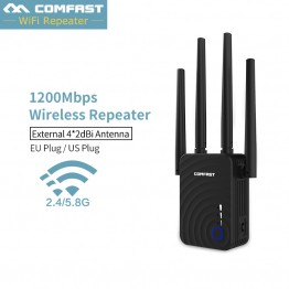 Comfast CF-WR754AC Repeater COMFAST WIFI 2.4G&5G dual frequency 1200Mbps Home Wireless Extender Router signal Wifi Range 4*2dbi Antenna