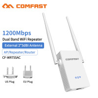 Comfast CF-WR755AC High Antennas 2*3dBi Dual Band 1200Mbps Wireless 2.4G&5.8G Wifi Extender Bridge Signal Amplifier Router