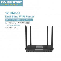 comfast 1200Mbps Gigabit WiFi Router 2.4G 5GHz WiFi Repeater 128MB DDR 1*10/100/1000 Lan Wan USB 2.0  Dual Band Wireless Router