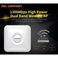 COMFAST CF-E375AC 1300Mbps 5.8Ghz high power dual band wireless ceiling AP with gigabit RJ45 port wi fi router signal amplifier