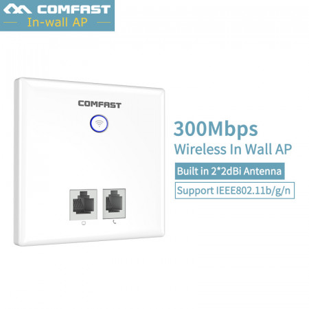 300Mbps in Wall WiFi router Wireless Access Point Socket AP for Hotel Project RJ45 LAN USB 802.11b/g/n 48V POE USB 2.0 Charging