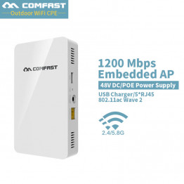 COMFAST 1200Mbps dual band gigabit Wireless in Wall AP 2.4G/5.8G 802.11ac Access Point Wireless wifi Router support 48V POE &DC