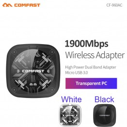 COMFAST CF-960AC 1900M Dual Band 2.4Ghz + 5Ghz USB 3.0 Wireless/WiFi AC Gigabit Adapter