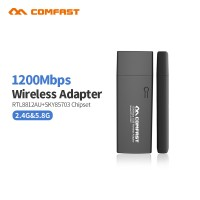 600/1300Mbps Comfast USB 3.0 Wireless Wifi Adapter Dual Band 2.4+5 GHz 802.11AC 802.11 a/b/n/g/ac with 2*6dbi Wifi Antennas