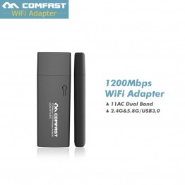 1200M Dual Band Mini Wi fi Adapter 2.4G 5G usb wifi Adapter dongle Computer Network Card 802.11ac Wireless Wifi CF-912AC