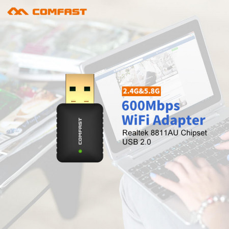 600Mbps Mini USB Wifi Wireless Adapter CF-915AC 802.11 AC Network Card LAN Dongle Wi Fi USB Receiver For Desktop Laptop