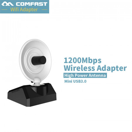 New ~ Long Range Dual Band 1200Mbps 802.11a/b/g/n/ac USB3.0 WLAN Wireless Adapter Network USB WiFi Adapter Comfast CF-WU772AC