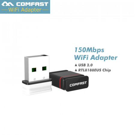 150Mbps Mini USB Wireless Wi Fi Adapter For PC 802.11n/b/g Wi fi Receiver Network Card Realtek 8188eus CF-WU810N with CD driver