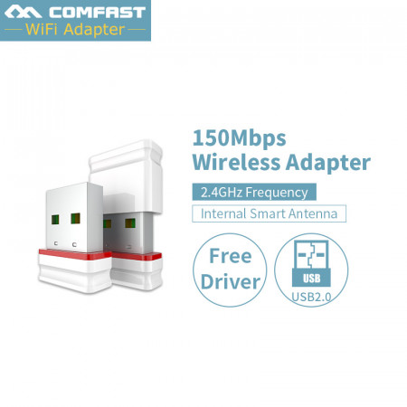 Free driver Comfast 150Mbps Mini Network Card Wireless USB WiFi LAN Adapter 802.11n/g/b WIFI adapters antenna For PC Computer