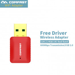 CF-WU925A 600Mbps Network Card USB 2.0 Adapter 2.4GHz WiFi dongle PC Mini Wireless Computer Receiver Dual Band 802.11b/n/g/ac